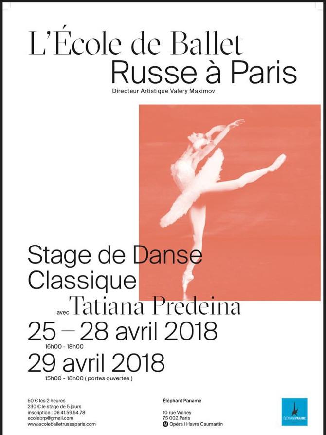 Stage de Pâques 2018