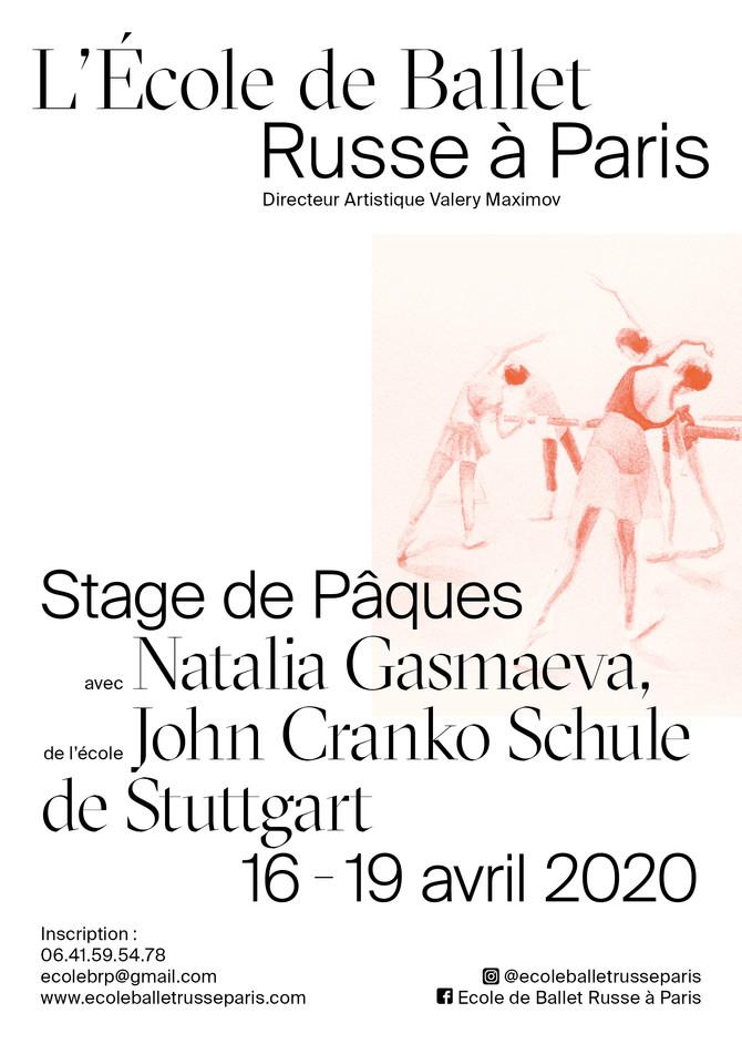 Stage Avril 2020 avec Natalia Gasmaeva