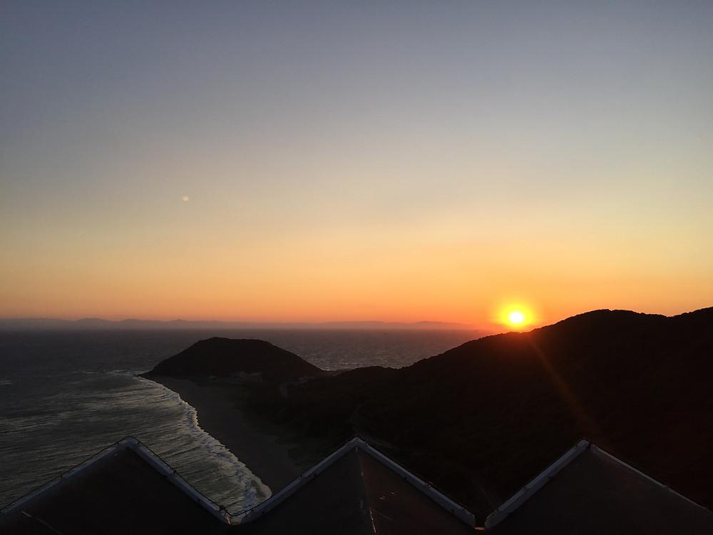 伊良湖夕日