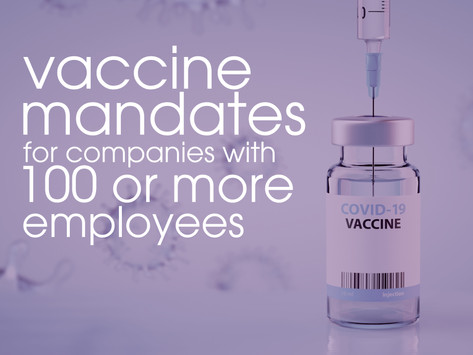 Vaccine Mandates for 100 or More Employee Companies