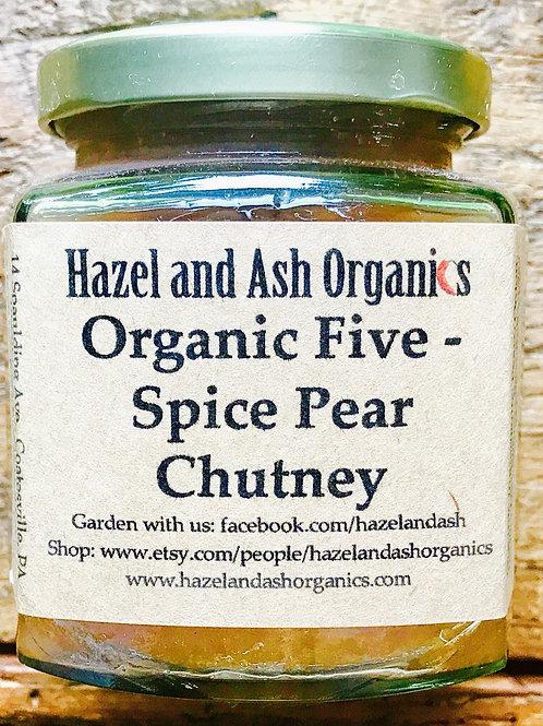 Organic Five - Spice Pear Chutney 9oz