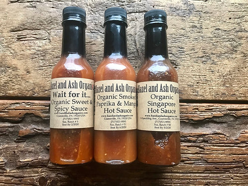 Hot Sauce Gift Set: Smoked Paprika & Mango; Wait For It; Singapore Hot Sauces