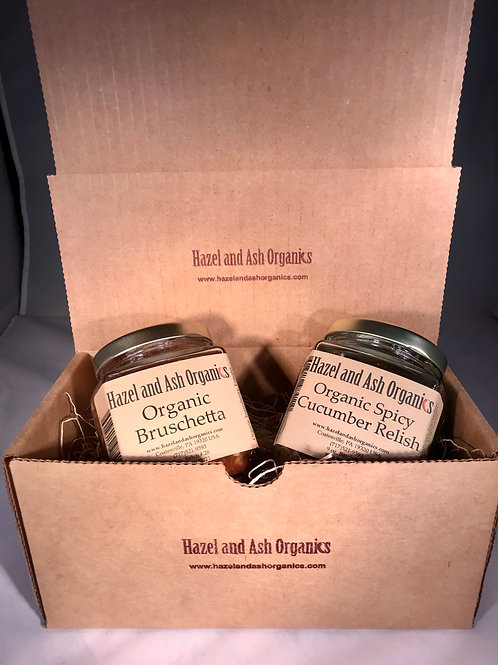 Gift Set: Organic Bruschetta & Spicy Cucumber Relish