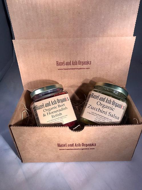 Gift Set: Organic Beet and Horseradish Relish & Zucchini Salsa
