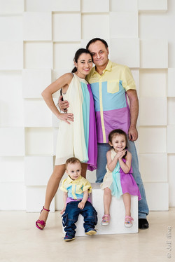 Family Look, студийная съемка