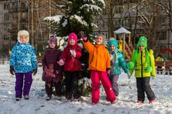 Зимняя прогулка в детском саду