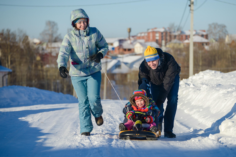 Зимняя прогулка с детьми
