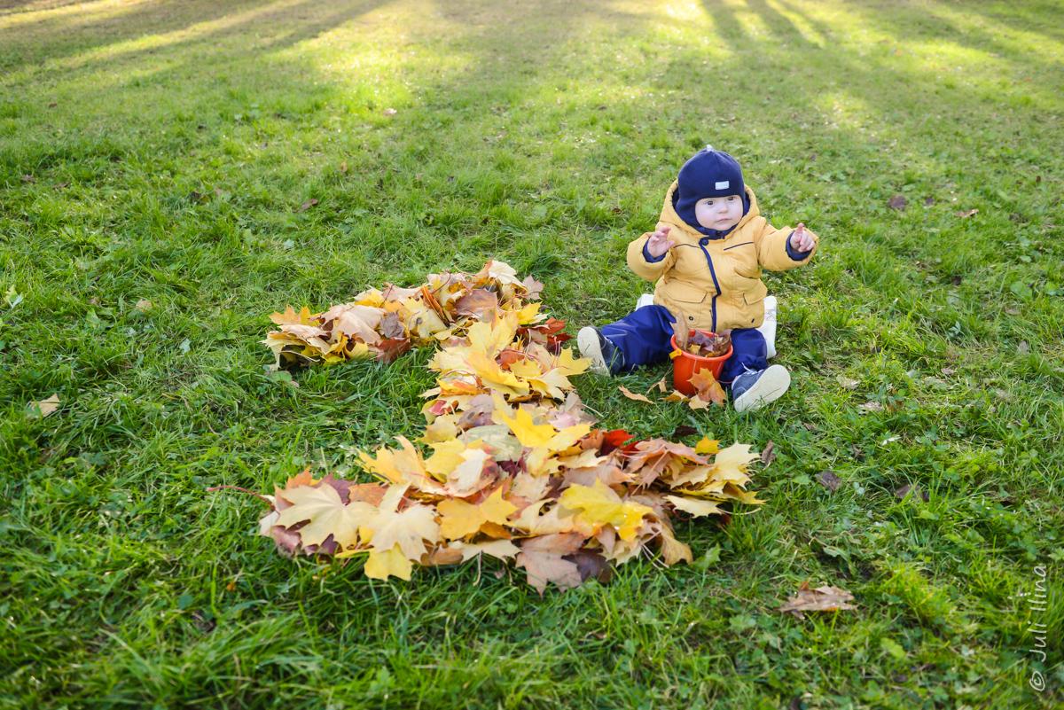 Осенняя фотопрогулка, 1 годик
