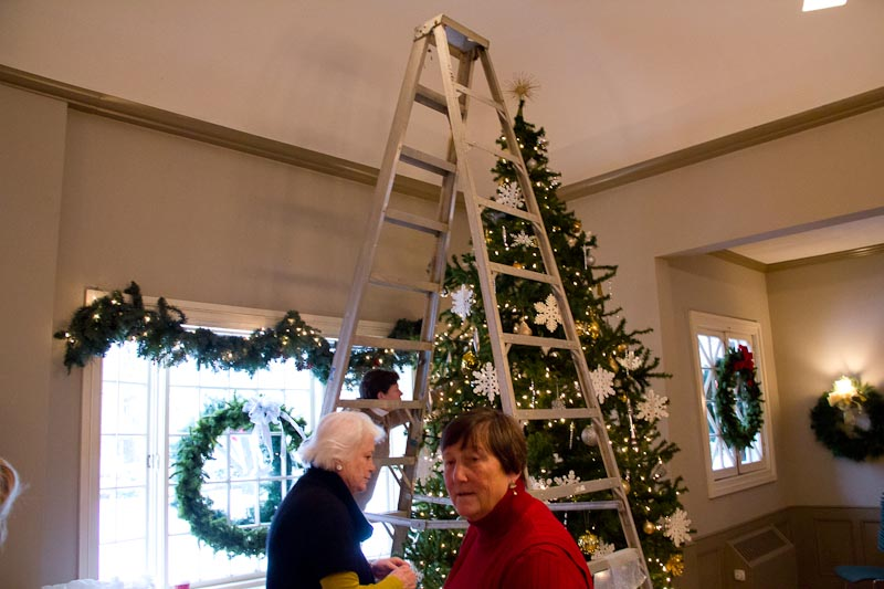 Holiday Decorating at the Village Hall