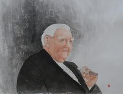 에르하르트 총리 초상화