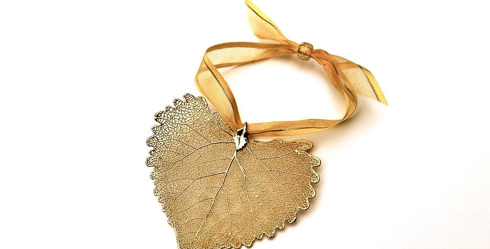 Ornament Pappel GOLD