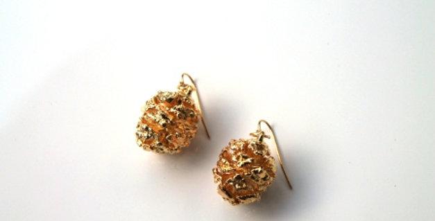 Ohrhänger Redwood Zapfen GOLD