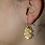 Thumbnail: Ohrhänger Eiche Gold