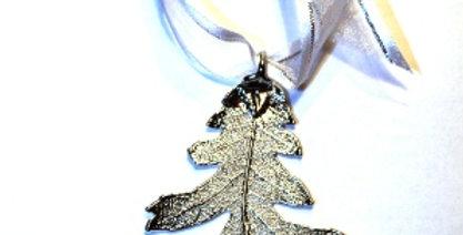 Ornament Eiche SILBER
