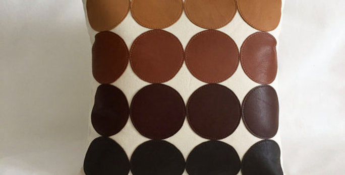 Cognac Leather pillows