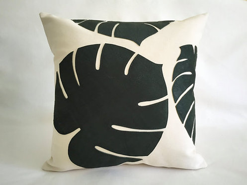 green leather pillows