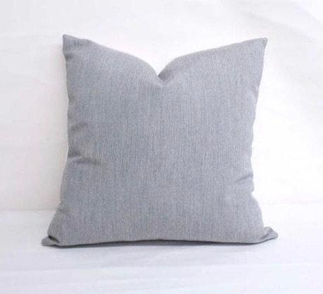 """Sunbrella Cast Silver- pillow cases - 12'' x 18"""""""