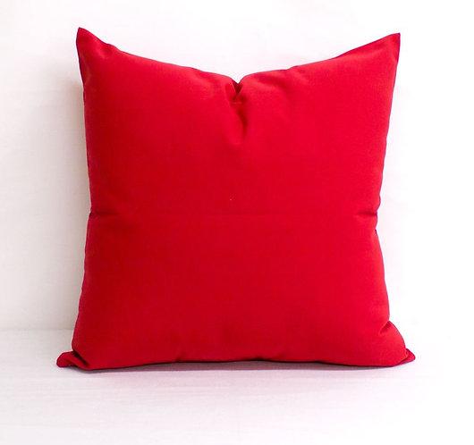 "Sunbrella Jocky Red pillow cases - 18'' x 18"""