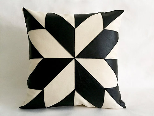 Mid century black and white pillows