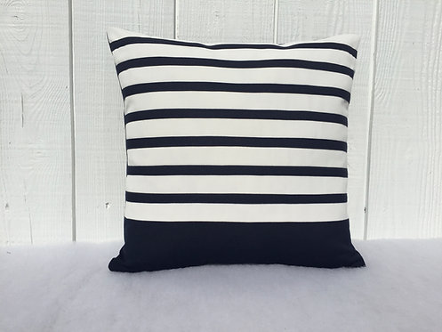 Striped Navy blue Pillows