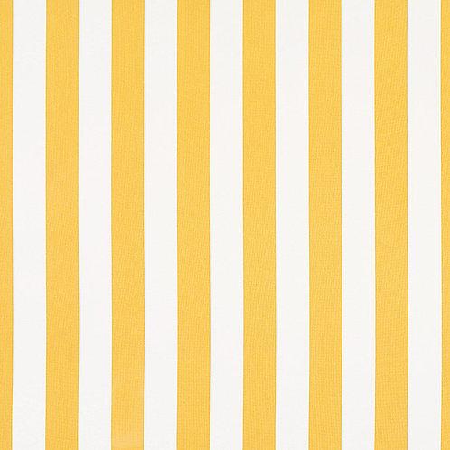 "Sunbrella Stripe Yellow/White - pillow cases - 12'' x 18"""