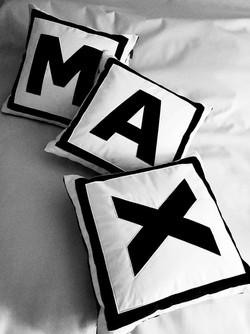 Monogram decorative pillows