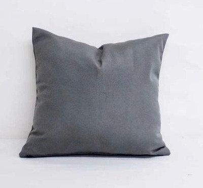 """Sunbrella Canvas Charcoal - pillow cases - 18'' x 18"""""""