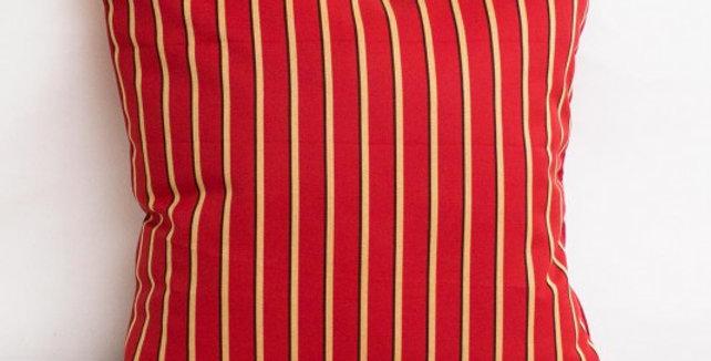 "Sunbrella Harwood Crimson  - pillow cases 18'' x 18"""