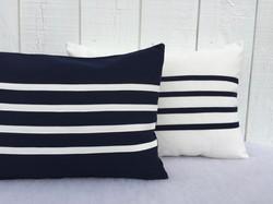 Outdoor navy blue decorative pillows