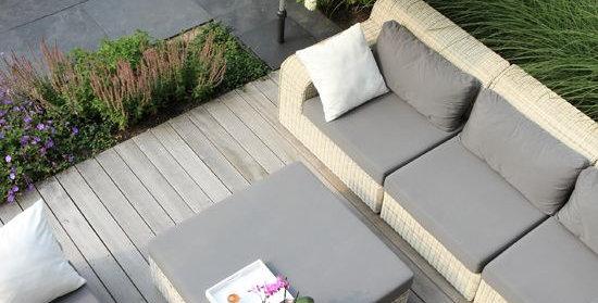 Grey Sunbrella cushions