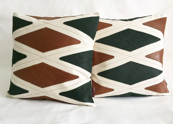 Leather pillows