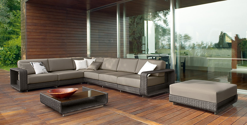 Grey outdoor cushions for patio