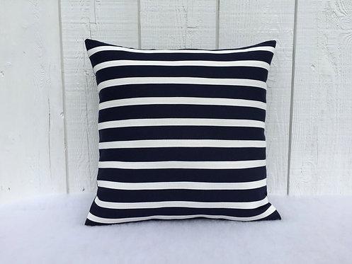 Striped Navy blue patio pillows