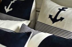 Striped Navy blue pillows