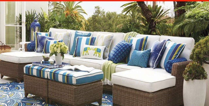 Custom made patio replacement cushions