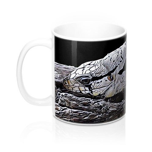 Blizzard Blue Tegu Lizard Mug, Coffe Mug, LIzard Mug, Tegu World