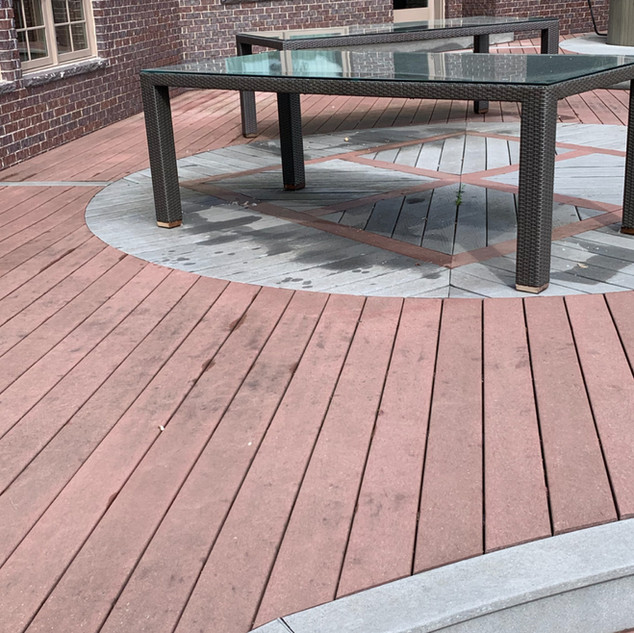 residential deck before softwash