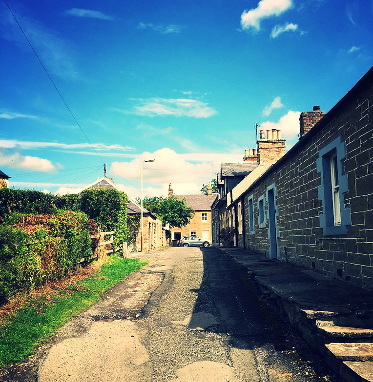 village lane, cute cottages