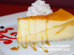 MANGO-PASSION FRUIT CHEESECAKE