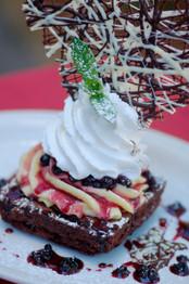 Piedmonte Chocolate Brownie at Mutu's Italian Kitchen in Durango, Colorado