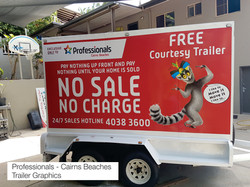 Professionals Cairns Beaches Trailer Graphics Cairns Signs