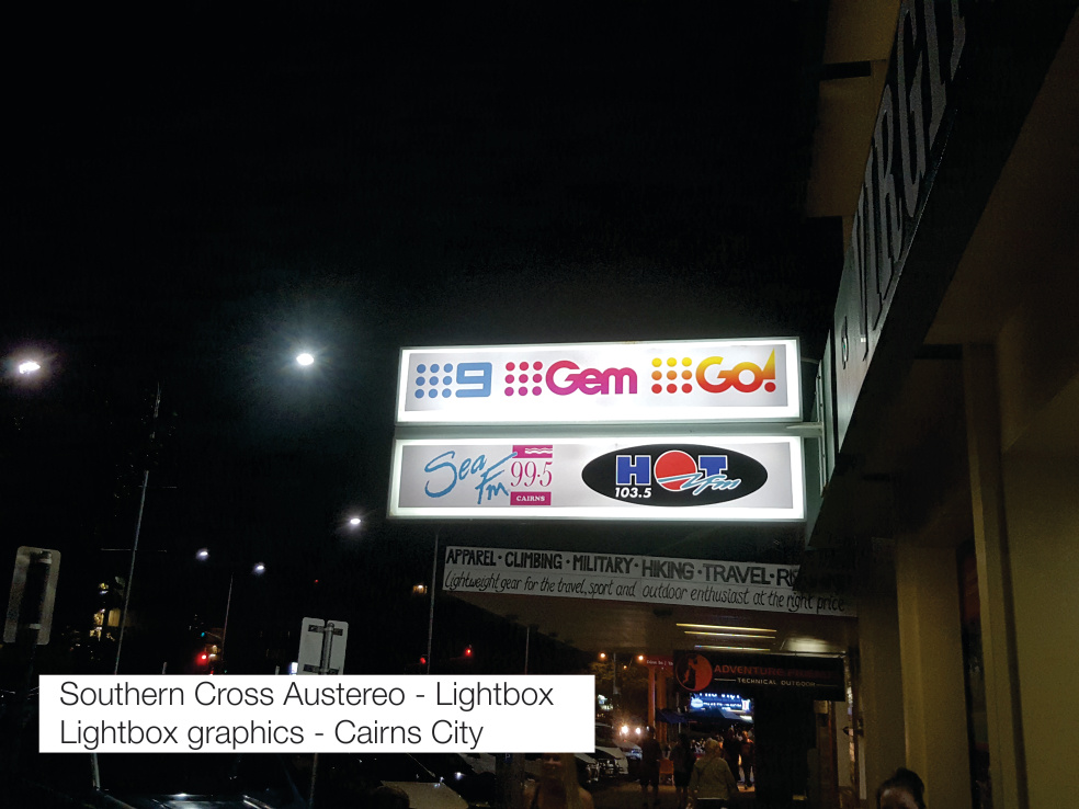 SCA Lightbox Cairns Signs