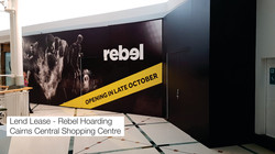 Rebel Hoarding Cairns Signs