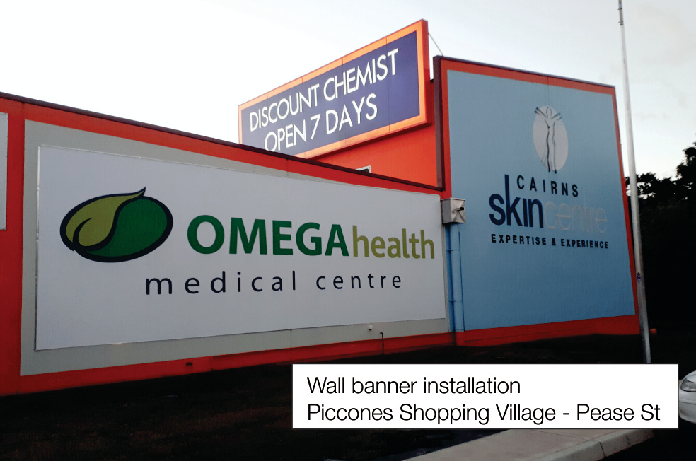 Omega Banner Installation Cairns Signs