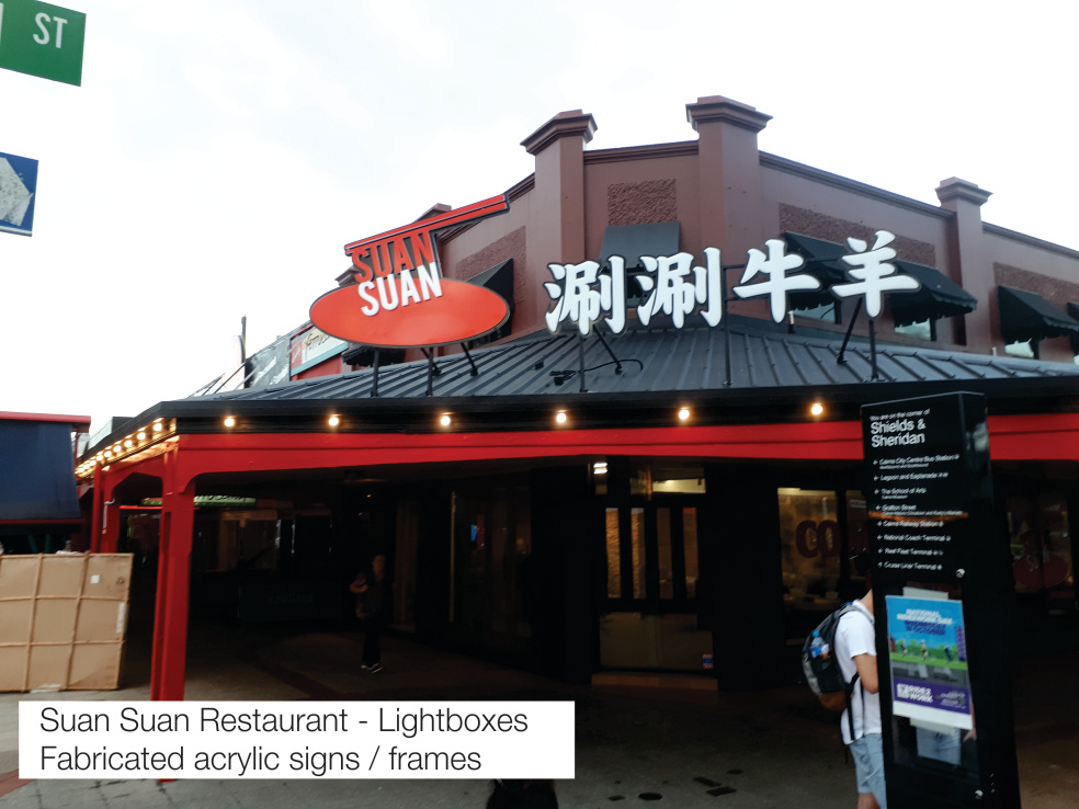 Suan Suan Lightbox Cairns Signs
