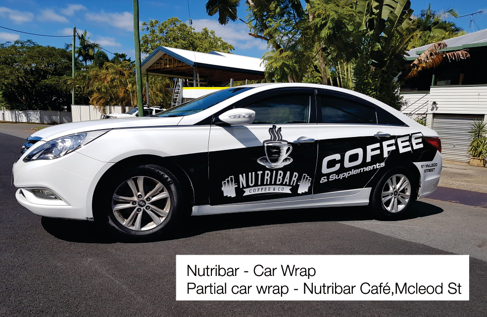 Nutribar Car Wrap Cairns Signs