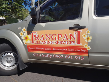 Frangipani Cleaning - Car Graphics