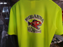 Piranha Mowing TShirts Cairns Signs
