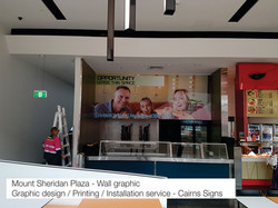 Mt Sheridan Wall Graphic Cairns Signs