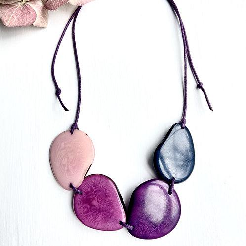Purple Tagua Necklace
